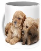 Cockerpoo Puppies And Rabbit Coffee Mug