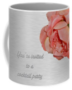 Cocktail Party Invitation - Fabric Rose Coffee Mug