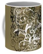 Coffee Flowers 1 Olive Coffee Mug