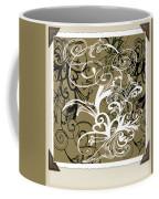 Coffee Flowers 1 Olive Scrapbook Coffee Mug