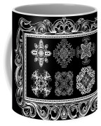 Coffee Flowers Ornate Medallions Bw 6 Piece Collage Framed  Coffee Mug