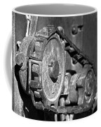 Cog And Chain In Rust Black And White Coffee Mug