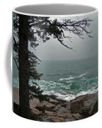 Cold Green Surf Coffee Mug by Skip Willits