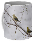 Cold Yellow Finch Walk Coffee Mug