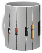 Collection Of Electronic Components Coffee Mug by Photo Researchers