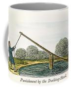 Colonial Ducking Stool Coffee Mug