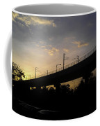 Color Of Sunset Over Metro Pillar In Delhi Coffee Mug