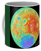 Color Shaded Relief Of The Lunar Coffee Mug