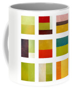 Color Study Abstract Collage Coffee Mug by Michelle Calkins