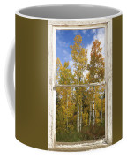 Colorado Autumn Aspens Picture Window View Coffee Mug