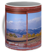 Colorado Country Red Rustic Picture Window Frame Photo Art Coffee Mug