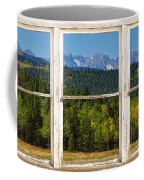 Colorado Indian Peaks Autumn Rustic Window View Coffee Mug by James BO  Insogna
