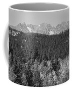 Colorado Rocky Mountain Continental Divide View Bw Coffee Mug