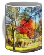 Colorful Autumn Street Coffee Mug