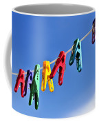 Colorful Clothes Pins Coffee Mug