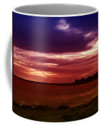 Colorful Clouds Over Ocean At Sunset Coffee Mug
