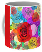 Colorful Floral Design  Coffee Mug by Setsiri Silapasuwanchai