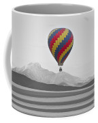Colorful Hot Air Balloon And Longs Peak Coffee Mug