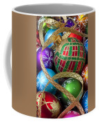 Colorful Ornaments With Ribbon Coffee Mug