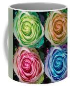 Colorful Rose Spirals Coffee Mug