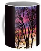 Colorful Silhouetted Trees 33 Coffee Mug