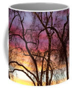 Colorful Silhouetted Trees 37 Coffee Mug