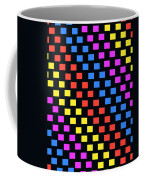 Colorful Squares Coffee Mug by Louisa Knight