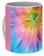 Colorful Starburst Tie Dye  Coffee Mug
