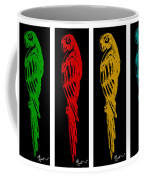 Colorful Tropical Parrot Abstract Parrot Ink Sketch Digital And Original Art By Madart Coffee Mug