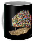 Colorful Welded Steel Encaustic On Wood Sculpture Coffee Mug