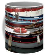 Colorful Wooden Boats Coffee Mug