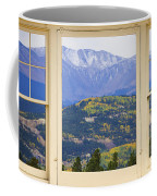 Colorful Rocky Mountain Autumn Picture Window View Coffee Mug