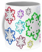 Coloured Snowflakes Isolated Coffee Mug