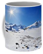 Columbia Icefield In Winter, Jasper Coffee Mug