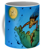 Comet Colliding With Earth Coffee Mug