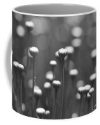 Coming Up Daisies Abstract In Black And White Coffee Mug