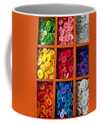 Compartments Full Of Buttons Coffee Mug by Garry Gay