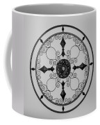 Compass In Black And White Coffee Mug
