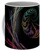 Computer Generated Abstract Fractal Flame Black Modern Art Coffee Mug