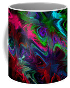 Computer Generated Blue Green Abstract Wave Fractal Flame Modern Art Coffee Mug