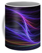 Computer Generated Blue Magenta Abstract Fractal Flame Modern Art Coffee Mug