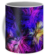 Computer Generated Blue Pink Abstract Fractal Flame Coffee Mug