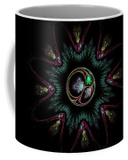 Computer Generated Flower Abstract Fractal Flame Modern Art Coffee Mug