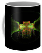 Computer Generated Green 3d Abstract Fractal Flame Art Coffee Mug