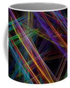Computer Generated Lines Abstract Fractal Flame Modern Art Coffee Mug