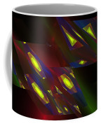 Computer Generated Triangles Abstract Fractal Flame Abstract Art Coffee Mug