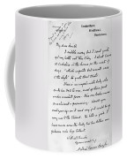 Conan Doyle: Letter Coffee Mug