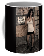 Concrete Velvet 9 Coffee Mug by Donna Blackhall