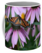 Cone Flowers And Monarch Butterfly Coffee Mug