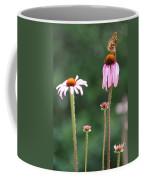 Coneflowers And Butterfly Coffee Mug